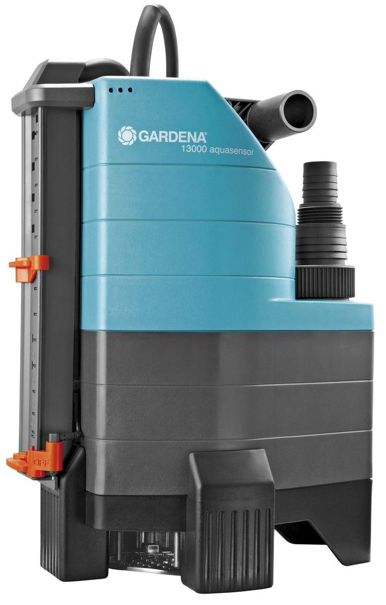 Насос дренажный Gardena 13000 Aquasensor Comfort, для грязной воды01799-20.000.00Насос дренажный для грязной воды 13000 AquaSensor Comfort (с обратным клапаном; диаметр частиц до 30 мм)