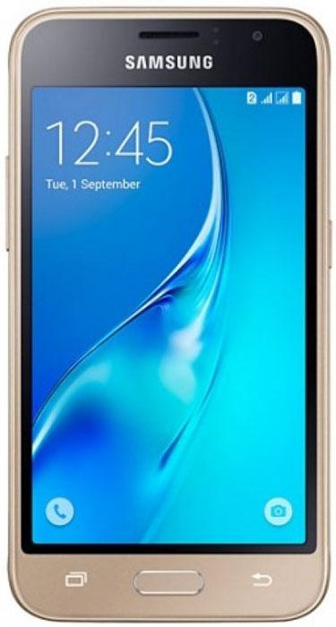 Samsung SM-J105H Galaxy J1 mini, GoldSM-J105HZDDSERSamsung SM-J105H Galaxy J1 mini - это гармония стиля и функциональности. Закругленные края подчеркивают простой, но элегантный и современный дизайн, а толщина корпуса в 10,7 мм обеспечивает удобство в использовании!Яркие впечатления от просмотраЯркие впечатления от просмотра на 4 экране. Он отличается широкой палитрой воспроизводимых цветов. Благодаря обновленному дизайну экран выглядит шире, а воспроизводимые изображения очень реалистичны.Яркие и четкие фотографии:5-мегапиксельная основная камера с диафрагмой f/2.2 - гарантия отличных снимков.Емкий аккумулятор:Аккумулятор с емкостью 1500 мАч позволит оставаться на связи дольше обычного. Разрядился аккумулятор? Нет проблем! Режим максимального энергосбережения позволит продлить работу вашего смартфона.Повышенная производительность:4-ядерный 1,2 ГГц процессор обеспечит мгновенную реакцию смартфона на любые ваши действия. Вы по достоинству оцените высокую скорость работы смартфона в приложениях.Удобное приложение Smart Manager:Приложение Smart Manager дает возможность управлять основными функциями и режимами вашего смартфона. Проверить состояние уровня заряда батареи, доступный объем памяти, использование оперативной памяти и степень защищенности вашего смартфона.Телефон сертифицирован Ростест и имеет русифицированный интерфейс меню, а также Руководство пользователя.