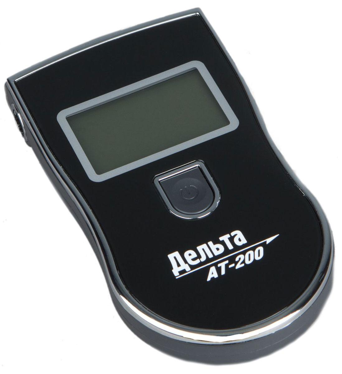 Дельта АТ 200, Black алкотестер2012506202008Персональный алкогольный тестер Дельта АТ-200 предназначен для определения содержания паров алкоголя в выдыхаемом воздухе. Имея небольшие размеры и встроенный отсек для сменных мундштуков (5 шт. в комплекте) он очень компактен и удобен в использовании. Концентрация алкоголя определяется высокотехнологичным полупроводниковым газовым сенсором - анализатором. Результат измерений выводится на удобный и большой жидкокристаллический дисплей.Диапазон: 0.00 - 1.99 промиллеПогрешность: ± 10 %Время измерения: 5 сВремя прогрева: 20 сДиапазон температур: -10...+ 50 °CЗвуковой сигналХранение сменных мундштуков в корпусе