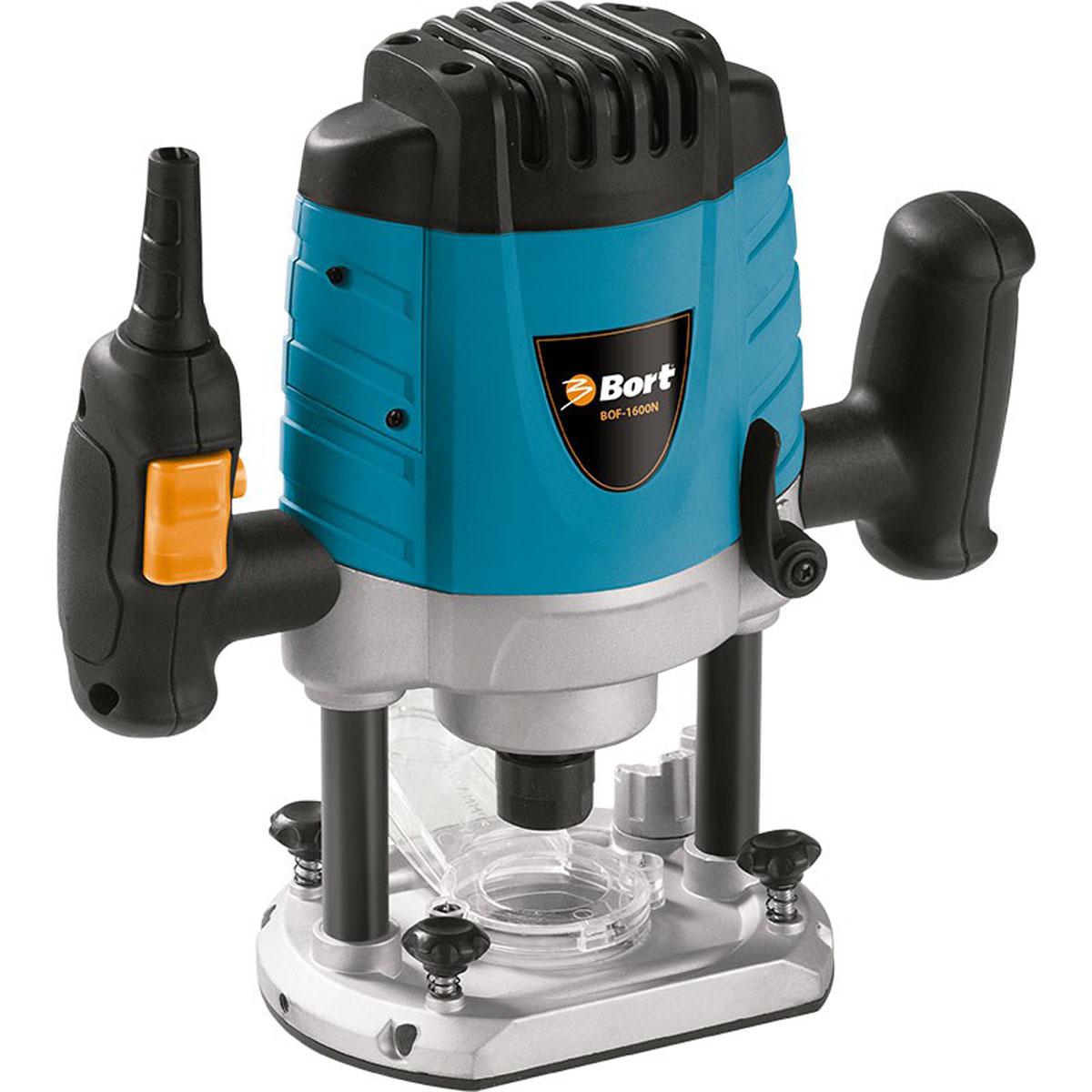Фрезер электрический Bort BOF-1600NBOF-1600N GreenЭлектрический фрезер BORT BOF-1600N 98290011 - это полупрофессиональный инструмент для обработки дерева, пластика и аналогичных материалов. В зависимости от выбора оснастки универсальная модель быстро и аккуратно пропиливает отверстия различной глубины, выбирает пазы, наносит на заготовку узор. Мощный двигатель обеспечивает долгую работу без перегрева. Скорость вращения фрезы регулируется в диапазоне от 8000 до 30000 об/мин, что позволяет работать как с плотными, так и с более рыхлыми материалами (ДВП, фанера).