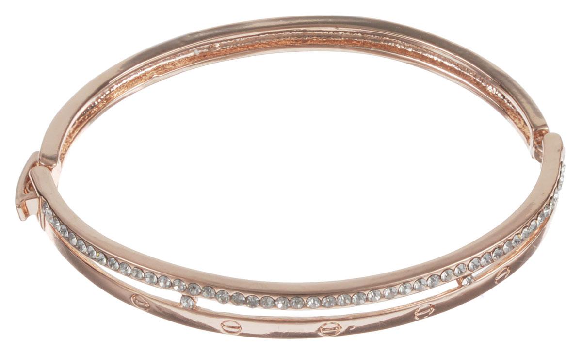 Браслет Taya, цвет: золотистый. T-B-10788Глидерный браслетСтильный женский браслет Taya, выполненный из бижутерного сплава, оформлен стразами. Застегивается браслет на замок-пряжку.Браслет Taya - это модный стильный аксессуар, призванный подчеркнуть индивидуальность и очарование его обладательницы.