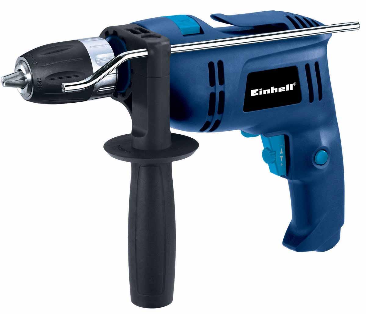 Дрель ударная EINHELL BT-ID 650 E4258658Мощность: 650 Вт.Kоличество оборотов: 0-2100 об/мин.Регулировка оборотов, быстрозажимной патрон с фиксатором, 13 мм, вес 2 кг.
