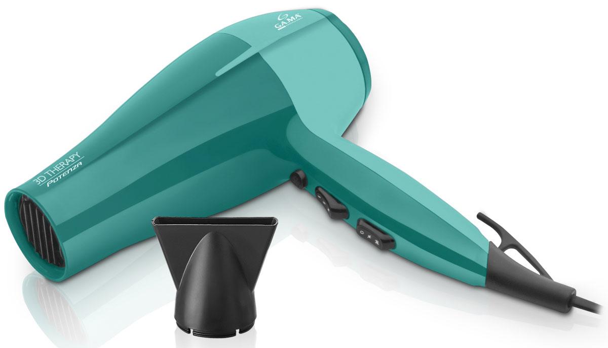 GA.MA Potenza Ion 3D Therapy фенA21.POTENZAION.3DУникальная разработка — фен GA.MA Potenza Ion 3D Therapy — это современный атрибут, наделенный инновационными свойствами. Этот мощный прибор подарит вашим волосам безупречность на каждый день. Сегодня каждая девушка мечтает обеспечить себе профессиональный салонный уход за волосами в домашних условиях.Встроенный ионизатор потока воздуха бережно избавляет от статического электричества. К слову, это особенно актуально в холодное время года. Сохранить здоровье и блеск ваших волос — вот главная задача данного фена. А благодаря многоуровневой регулировке температуры, завершение укладки холодным воздухом сделает локоны сияющими и закрепит результат укладки.Обладает ультралегким мотором DC с встроенным понижением уровня шумаУлучшенная функция ионизации: на 80% больше ионов!Функциональность — 6 режимов работыДлина корпуса 23 смСъемный фильтр