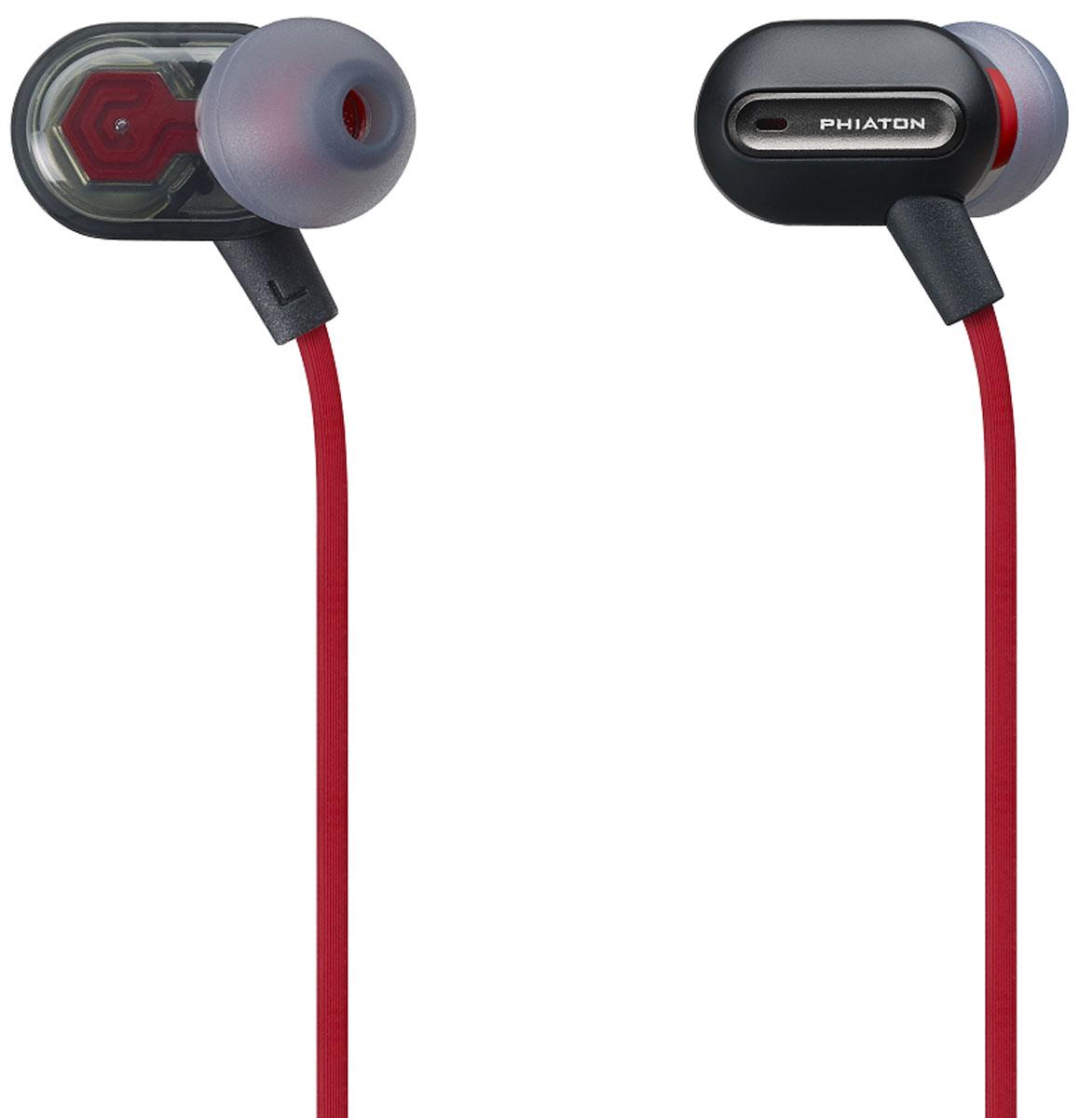 Phiaton MS300BA, Black наушники-вкладыши (PPU-BA0300BK01)PPU-BA0300BK01Наушники Phiaton МС300BA имеют удобную форму, поэтому идеально сидят в ушах. Они обладают чистой передачей звука и глубокими басами. Текстурированный кабель позволяет минимизировать спутывание наушников. Phiaton МС300BA оснащены встроенным пультом ДУ и микрофоном, что позволяет вам управлять телефонными звонками.