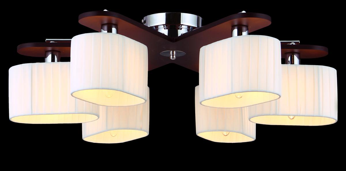 Люстра Natali Kovaltseva, 6 x E14, 60W. 10714/6C10714/6C TOONЛюстра Natali Kovaltseva, выполненная в эко стиле, станет украшением вашей комнаты и оригинально дополнит интерьер. Изделие крепится к потолку. Такая люстра универсальна и отлично подойдет для освещения кабинета, столовой, кухни, спальни или гостиной. Люстра выполнена из металла с хромированным покрытием и индийского красного дерева тун. Изделие имеет 6 плафонов, выполненных из легкого текстиля в складку. В коллекциях Natali Kovaltseva представлены разные стили - от классики до хайтека. Дизайн и технологическая составляющая продукции разрабатывается в R&D центре компании, который находится в г. Дюссельдорф, Германия. При производстве продукции используются высококачественные и эксклюзивные материалы: хрусталь ASFOR, муранское стекло, перламутр, 24-каратное золото, бронза. Производство светильников соответствует стандарту системы менеджмента качества ISO 9001-2000. На всю продукцию ТМ Natali Kovaltseva распространяется гарантия.