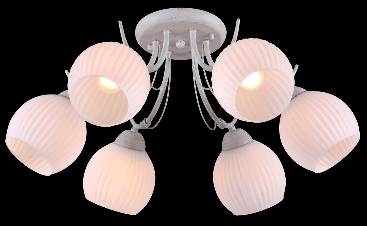 Люстра Natali Kovaltseva, 6 x E27, 60W. 10855/6C10855/6C GOLD IVORYЛюстра Natali Kovaltseva, выполненная в классическом стиле, станет украшением вашей комнаты и изысканно дополнит интерьер. Изделие крепится к потолку. Такая люстра отлично подойдет для освещения кабинета, столовой, спальни или гостиной. Люстра выполнена из белого окрашенного металла и декорирована золотистым покрытием. Изделие оснащено 6 плафонами из матового стекла с рельефной поверхностью. В коллекциях Natali Kovaltseva представлены разные стили - от классики до хайтека. Дизайн и технологическая составляющая продукции разрабатывается в R&D центре компании, который находится в г. Дюссельдорф, Германия. При производстве продукции используются высококачественные и эксклюзивные материалы: хрусталь ASFOR, муранское стекло, перламутр, 24-каратное золото, бронза. Производство светильников соответствует стандарту системы менеджмента качества ISO 9001-2000. На всю продукцию ТМ Natali Kovaltseva распространяется гарантия.