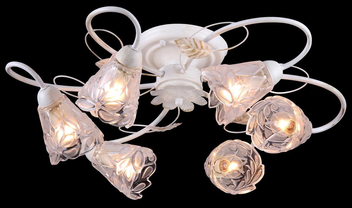 Люстра Natali Kovaltseva, 6 x E14, 60W. 10858/6C10858/6C GOLD IVORYЛюстра Natali Kovaltseva, выполненная в классическом стиле, станет украшением вашей комнаты и изысканно дополнит интерьер. Изделие крепится к потолку. Такая люстра отлично подойдет для освещения кабинета, столовой, спальни или гостиной. Люстра выполнена из белого окрашенного металла и оснащена 6 стеклянными плафонами с красивым цветочным рельефом. Отдельные элементы люстры декорированы золотистым покрытием. В коллекциях Natali Kovaltseva представлены разные стили - от классики до хайтека. Дизайн и технологическая составляющая продукции разрабатывается в R&D центре компании, который находится в г. Дюссельдорф, Германия. При производстве продукции используются высококачественные и эксклюзивные материалы: хрусталь ASFOR, муранское стекло, перламутр, 24-каратное золото, бронза. Производство светильников соответствует стандарту системы менеджмента качества ISO 9001-2000. На всю продукцию ТМ Natali Kovaltseva распространяется гарантия.