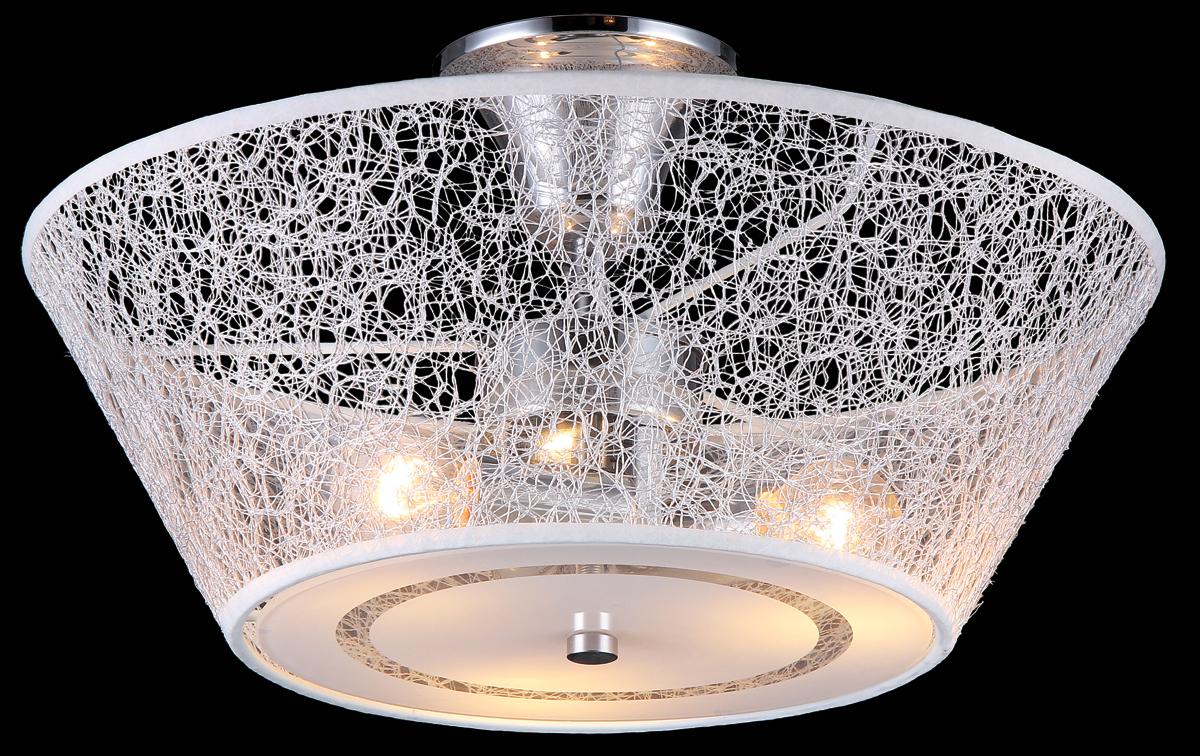 Люстра Natali Kovaltseva, 3 x E14, 40W. 11423/3C11423/3C CHROMEЛюстра Natali Kovaltseva, выполненная в оригинальном дизайне, станет украшением вашей комнаты и изысканно дополнит интерьер. Изделие крепится к потолку. Такая люстра отлично подойдет для освещения кабинета, столовой, спальни или гостиной. Люстра изготовлена из металла с хромированным покрытием и снабжена текстильным абажуром с эффектом плетения. Изделие оснащено 3 цоколями. В коллекциях Natali Kovaltseva представлены разные стили - от классики до хайтека. Дизайн и технологическая составляющая продукции разрабатывается в R&D центре компании, который находится в г. Дюссельдорф, Германия. При производстве продукции используются высококачественные и эксклюзивные материалы: хрусталь ASFOR, муранское стекло, перламутр, 24-каратное золото, бронза. Производство светильников соответствует стандарту системы менеджмента качества ISO 9001-2000. На всю продукцию ТМ Natali Kovaltseva распространяется гарантия.