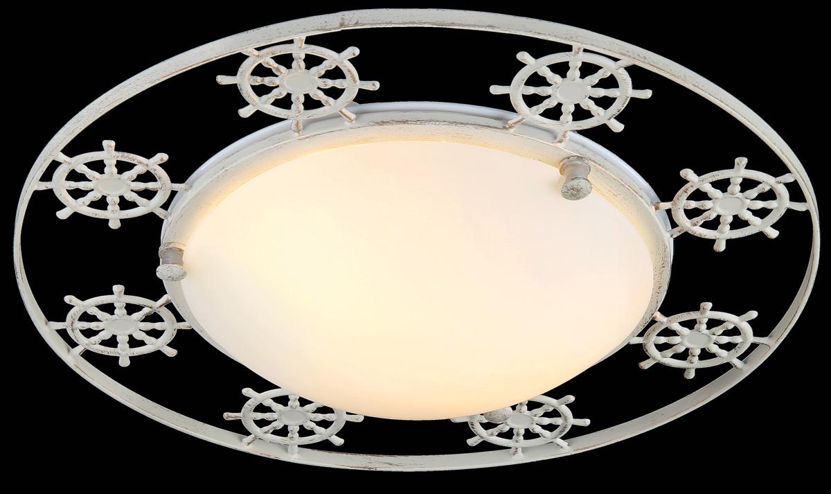 Светильник Natali Kovaltseva Sea, 3 x E27, 60W. 11365/3C WHITE GOLDSEA 11365/3C WHITE GOLDСветильник Natali Kovaltseva, выполненный в оригинальном дизайне, станет украшением вашей комнаты и изысканно дополнит интерьер. Изделие крепится к потолку или стене. Такой светильник отлично подойдет для освещения кабинета, столовой, спальни или гостиной. Он изготовлен из металла с декоративным золотистым покрытием под старину и снабжен круглым плафоном из матового стекла, скрывающим 3 цоколя. Изделие дополнено фигурками в виде штурвалов. В коллекциях Natali Kovaltseva представлены разные стили - от классики до хайтека. Дизайн и технологическая составляющая продукции разрабатывается в R&D центре компании, который находится в г. Дюссельдорф, Германия. При производстве продукции используются высококачественные и эксклюзивные материалы: хрусталь ASFOR, муранское стекло, перламутр, 24-каратное золото, бронза. Производство светильников соответствует стандарту системы менеджмента качества ISO 9001-2000. На всю продукцию ТМ Natali Kovaltseva распространяется гарантия.