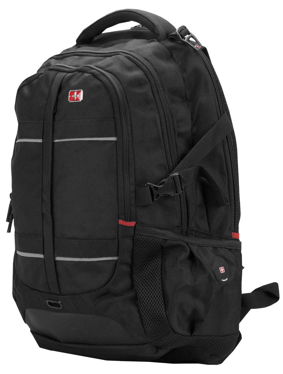 Continent BP-302, Black рюкзак для ноутбука 16Continent BP-302 BKContinent BP-302 - комфортный и надежный рюкзак для вашего ноутбука с диагональю экрана до 16 дюймов. Рюкзак изготовлен из прочного нейлона, рассчитанного на частое и интенсивное использование. Все застежки отличаются высоким качеством материалов и исполнения, а также продуманы с точки зрения эргономики. Спинка оснащена дышащим слоем, что позволяет использовать его в любую погоду. Помимо обозначенных преимуществ, рюкзак оснащен светоотражающими полосками для вашей безопасности.