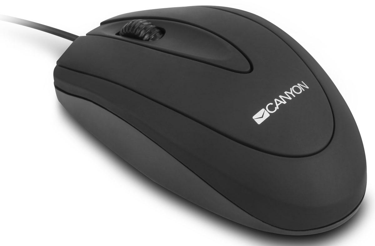 Canyon CNE-CMS1, Black мышьCNE-CMS1Классический дизайн и удобство в использовании – все это о мышке Canyon модели CNE-CMS1. Эта модель отличается мягким на ощупь покрытием и надежным кабелем с USB 2.0. Мышь поддерживает разрешение 800 точек на дюйм, что обеспечивает высокую точность движений.