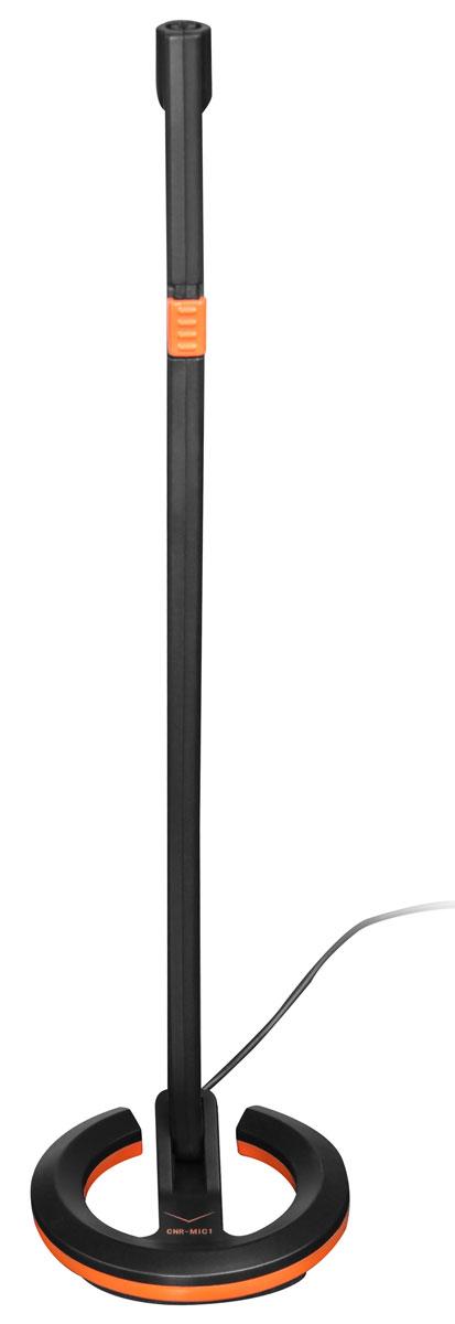 Canyon CNR-MIC01N, Black, Orange микрофонCNR-MIC01NНасладитесь кристально-чистым звуком при общении через Интернет с высокочувствительным настольным микрофоном Canyon. CNR-MIC01N — настольный микрофон с функцией отключения звука и возможностью регулировки положения в вертикальной позиции, выполнен в черном цвете с оранжевым акцентом. Подключается к ПК или ноутбуку с помощью разъема 3.5 мм джек.