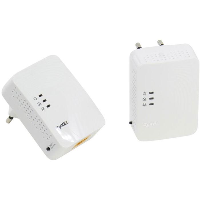 Zyxel PLA4201v2 EE (x2) адаптер PowerlinePLA4201v2 EE (x2)Powerline - адаптеры ZyXEL PLA4201v2 EE предоставляют полную свободу размещения сетевых устройств в пределах собственного или арендуемого помещения, так как любая электрическая розетка становится точкой доступа в сеть.Технология HomePlug AV 500 Мбит/с обеспечивает помехозащищенную передачу мультимедиа и является реальной альтернативой Ethernet-кабелю для трансляции видео высокой четкости на телевизор, установленный в произвольной точке квартиры. Управление качеством обслуживания (QoS) в сети HomePlug AV позволяет смотреть цифровое видео без задержек и потери качества одновременно с передачей данных.Передаваемые по электропроводке данные надежно защищены от прослушивания и перехвата. Настройка защищенного соединения осуществляется одним нажатием кнопки ENCRYPT, расположенной на корпусе адаптера.Соответствует стандартам IEEE 1901.2010 и HomePlug AVДиапазон частот: 1,8 – 67,5 МГцЗащита сети: AES с ключом 128 битовРасстояние передачи: до 300 метровУправление качеством обслуживания: ToS, QoS, VLANIGMP snoopingВстроенная вилка переменного тока Europlug (CEE 7/16)Кнопка RESET/ENCRYPT для автоматической установки имени сети HomePlug AV и сброса пользовательских настроек3 индикатора состояний