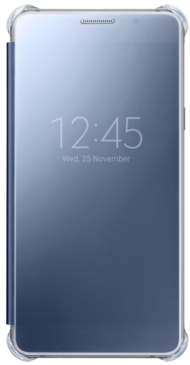 Samsung EF-ZA510 Clear View чехол для Galaxy A5 (2016), Dark BlueEF-ZA510CBEGRUClear View Cover, созданный специально для модели смартфона Samsung Galaxy A5 2016, позволяет идти в ногу со временем и является одной из разновидностей умных чехлов. Чехол надежно защищает смартфон со всех сторон, включая экран, от царапин, пыли и повреждений. При этом защиту экрана обеспечивает прозрачная крышка из оргстекла, покрытого лаком. Она настолько функциональна, что сквозь нее виден весь дисплей целиком. Так вы всегда будете в курсе происходящего: новостей, времени, погоды, входящих сообщений и уведомлений. Чехол на страже вашего времени – при звонке не нужно открывать чехол – прозрачная лаковая поверхность чехла реагирует на прикосновения и позволяет вам ответить на важные звонки, не открывая крышки смартфона.