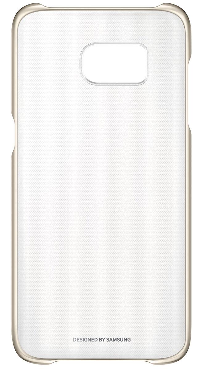 Samsung EF-QG935 Clear Cover чехол для Galaxy S7 Edge, GoldEF-QG935CFEGRUSamsung EF-QG935 Clear Cover - прозрачная накладка на заднюю крышку смартфона Samsung Galaxy S7. Тонкий чехол практически не увеличивает размеров смартфона, сохраняя его оригинальный внешний вид и защищая от пыли, грязи и повреждений.Уважаемые клиенты! Обращаем ваше внимание, что данный чехол имеет специальное защитное покрытие под транспортировочной плёнкой в виде тонкой дополнительной плёнки, являющееся неотъемлемой частью крышки и которое нанесено с помощью специального клея. Отделение данного слоя не предусмотрено производителем, и может привести к повреждению аксессуара.
