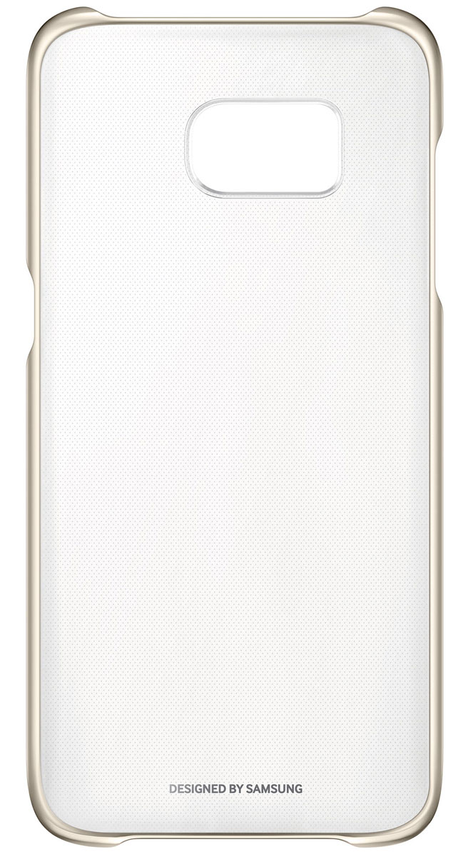 все цены на  Samsung EF-QG935 Clear Cover чехол для Galaxy S7 Edge, Gold  онлайн