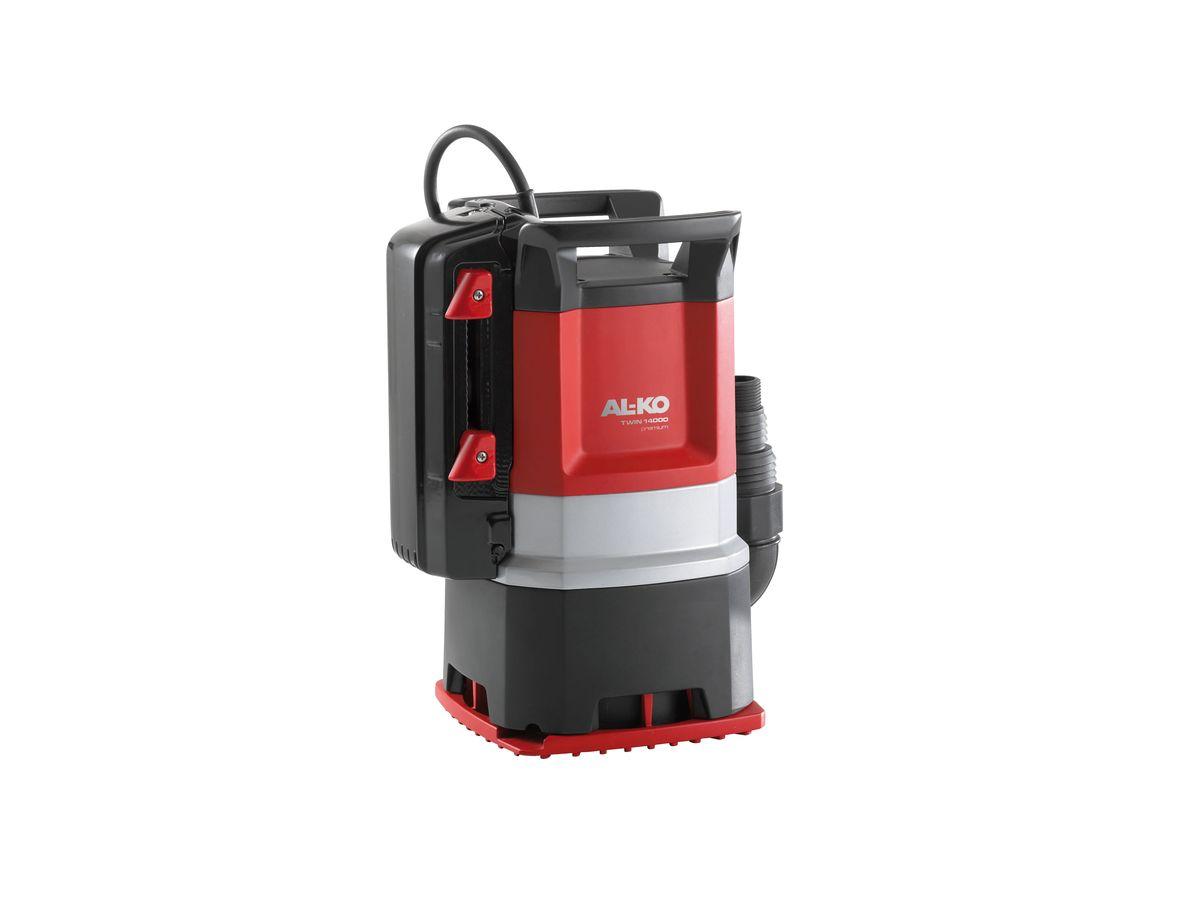 Насос погружной AL-KO Twin 14000 Premium112831Погружной насос AL-KO Twin 14000 Premium предназначен для откачивания грязной воды. Простое переключение основания насоса с режима откачивания грязной воды на откачивание чистой воды до минимального уровня. Благодаря встроенному поплавковому выключателю можно легко установить высоту уровня воды при откачивании в автоматическом режиме. Как альтернатива - при продолжительной эксплуатации возможно переключение на откачивание до минимального уровня. Не подверженные ржавчине стальные валы, не требующие смазки и техобслуживания шарикоподшипники, трехслойный сальник и прочный корпус обеспечивают насосу надежность и долговечность.Вид привода: электрический.Длина кабеля: 10 м.Мощность: 1000 Вт.Максимальная глубина погружения: 7 м.Максимальная высота всасывания: 10 м.Максимальный объем подачи: 15000 л/час.Максимальный размер взвешенных частиц: 3 см.Диаметр выходного отверстия: 4,78 см.