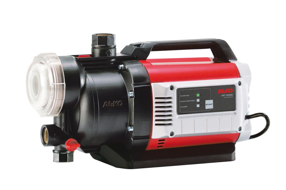 Насос садовый AL-KO JET 4000 Comfort112841Насос садовый AL-KO JET 4000 Comfort обладает большим напором и высокой производительностью. Встроенный датчик сухого хода надежно защищает насос от возможных повреждений при отсутствии воды, а легко очищаемый предварительный фильтр - от загрязнений. За счет размещенного в фильтре обратного клапана садовый насос очень быстро всасывают воду, а его ввод в эксплуатацию очень прост. При необходимости наполнения или опорожнения насоса все винтовые крепления и защитное стекло фильтра можно моментально снять с помощью прилагаемого ключа. Благодаря встроенной Jet-системе садовый насос быстро и без проблем откачает воду из колодца, цистерны или дождевой бочки в считанные минуты. Это значит, что он всегда готов к применению.Вид привода: электрический.Мощность: 1000 Вт.Глубина всасывания: 8 м.Высота подъема: 45 м.Максимальный объем подачи воды: 4000 л/час.Рабочий механизм насоса: одноступенчатый.Диаметр входного и выходного отверстия: 3,33 см.