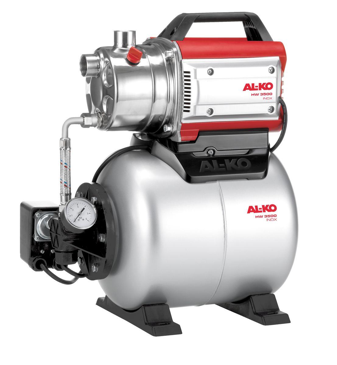 Станция насосная AL-KO HW 3500 Inox Classic112848Насосная станция AL-KO HW 3500 Inox Classic очень легко вводится в эксплуатацию. Она надежна в работе, имеет низкий уровень шума. Корпус выполнен из высококачественной нержавеющей стали. Насосная станция имеет высокую мощность всасывания и может выдерживать высокое давление.Объем расширительного бака: 17 л.Мощность: 850 Вт.Глубина забора воды: 8 м.Высота напора: 38 м.Максимальный объем подачи: 3400 л/час.Рабочий механизм насоса: 1-ступенчатый.Диаметр входного и выходного отверстий: G 1.