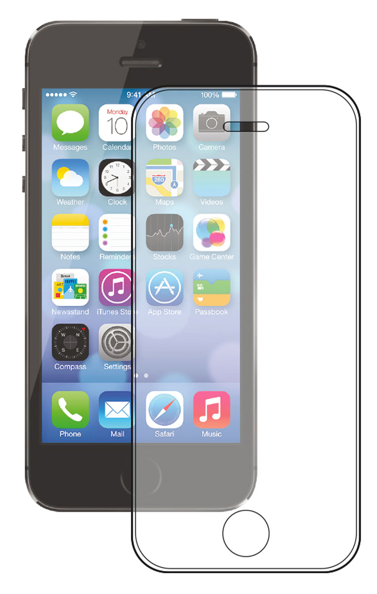 Deppa Gorilla защитное стекло для Apple iPhone 5/5s/5c, Clear61983Прочное защитное стекло Deppa Gorilla Glass 2 защитит экран вашего устройства от царапин. Обеспечивает более высокий уровень защиты по сравнению с обычной пленкой. При этом яркость и чувствительность дисплея не будут ограничены. Препятствует появлению воздушных пузырей и надежно крепится на экране устройства. Имеет олеофобное покрытие и закругленные края 2.5D.Материал: закаленное стекло Corning Gorilla Glass 2 (США)