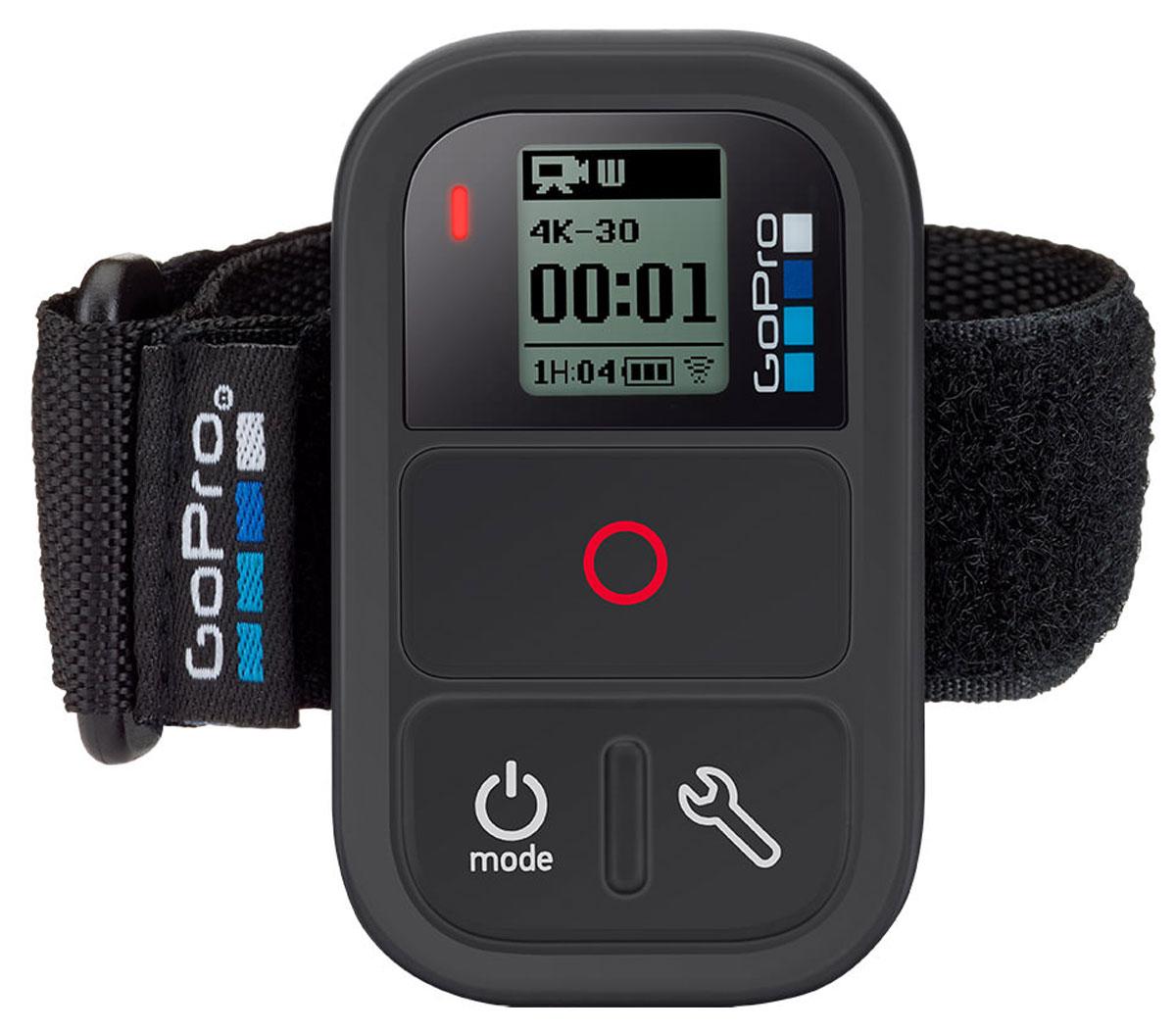 GoPro Smart Remote пульт управления Wi-FiARMTE-002GoPro Smart Remote - обновленная модель пульта дистанционного управления для HERO3/3+/4. На пульте появилась отдельная клавиша для управления меню настроек камеры и на 40% увеличена емкость встроенного аккумулятора.С пультом вы можете начать/остановить запись, включить и выключить камеру и имеете дистанционный доступ к настройкам камеры в любой момент. Вся информация с ЖК дисплея камеры дублируется на встроенном экране пульта. GoPro Smart Remote позволяет легко управлять несколькими камерами GoPro в количестве до 50 штук одновременно и на расстоянии до 180 м. Водонепроницаемый корпус позволяет погружаться с пультом на глубину до 10 м.