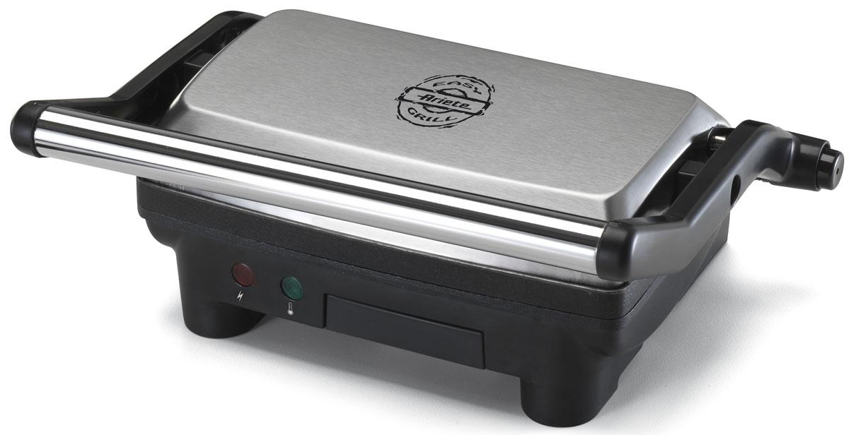 Ariete 1913 Toast & Grill Slim электрогриль1913Ariete 1913 Toast & Grill Slim станет отличным помощником на вашей кухне. При помощи этой модели вы сможете приготовить мясные и рыбные стейки, овощи-гриль, сосиски, мясо птицы, сэндвичи, тосты и многое другое. Устройство компактно и не займет много места.Гриль оснащен регулятором температуры и лотком для сбора жира. Пластины с антипригарным покрытием очень легко чистить, а также они предотвращают подгорание продуктов и дают возможность готовить с минимальным использованием масла. Этот симпатичный гриль безусловно достоин того, чтобы стать украшением вашей кухни!