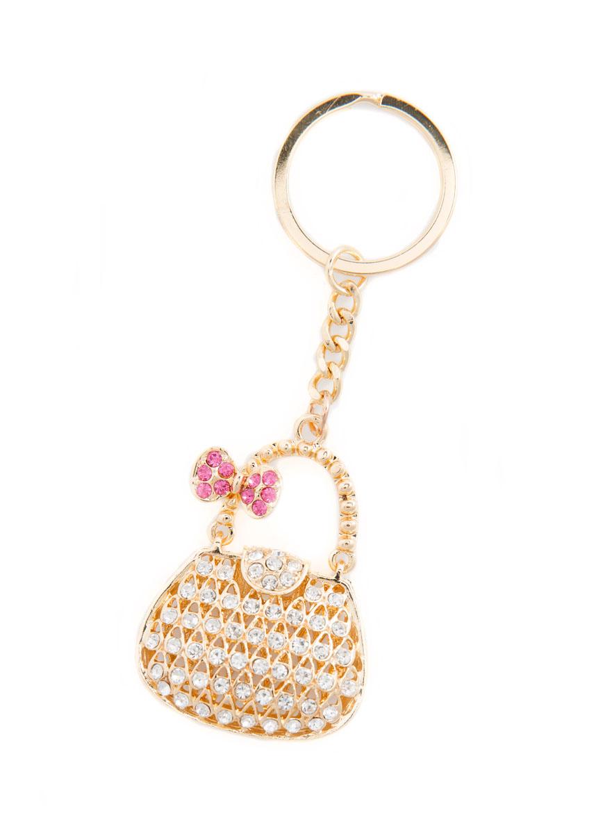 Брелок женский Mitya Veselkov, цвет: золотистый, белый, розовый. BRELOK-KLATCH-PINKБрелок для ключейОригинальный брелок для ключей Mitya Veselkov изготовлен из металлического сплава. Декоративный элемент выполнен в виде объемной сумочки с подвижной ручкой и оформлен стразами.Мелочей в образе не бывает, поэтому внимания требуют даже брелоки для ключей. Приятно открывать дверь любимого дома ключом с красивым брелоком.