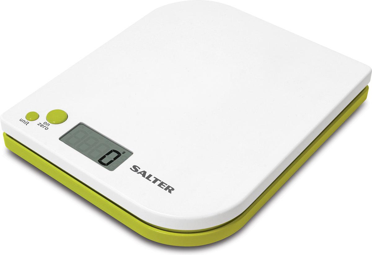 Salter 1177 WHGNDR, White электронные кухонные весы1177 WHGNDRSalter 1177 - электронные кухонные весы с современным дизайном. Данная модель имеет функцию добавь и взвешивай для взвешивания нескольких ингредиентов в одной чаше. Вы можете легко осуществлять переключение между метрической и имперской системой измерения. Прибор оснащен легко читаемым дисплеем. Ингредиенты можно взвешивать прямо на весах или в отдельной емкости.Размер дисплея 4,5 х 2 см