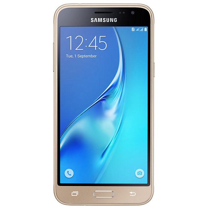 Samsung SM-J320F Galaxy J3, GoldSM-J320FZDDSERSamsung SM-J320F Galaxy J3 отличается более элегантным обновленным дизайном передней панели. Новый дизайн усиливает впечатление от просмотра. Тонкая черная рамка придает эффект глубокого погружения в изображение на экране.При толщине 7,9 мм и ширине 71,05 мм, смартфон Samsung SM-J320F Galaxy J3 выглядит более изящно, приятная на ощупь текстура корпуса подчеркивает элегантность формы и ощущение комфорта при использовании смартфона.Аккумулятор с емкостью 2600 мАч позволит оставаться на связи дольше обычного. При отсутствии возможности подзарядки используйте режим максимального энергосбережения.4-ядерный процессор и 1,5 ГБ оперативная память обеспечивают мгновенную реакцию смартфона на любые ваши действия.Удобное приложение Smart ManageПростой способ управления основными функциями смартфона: уровень заряда аккумулятора, доступный объем памяти, состояние использования оперативной памяти и безопасность смартфона.Телефон сертифицирован Ростест и имеет русифицированный интерфейс меню, а также Руководство пользователя.