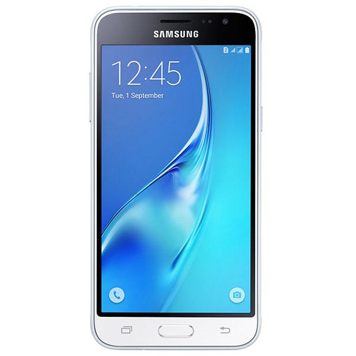 Samsung SM-J320F Galaxy J3, WhiteSM-J320FZWDSERSamsung SM-J320F Galaxy J3 отличается более элегантным обновленным дизайном передней панели. Новый дизайн усиливает впечатление от просмотра. Тонкая черная рамка придает эффект глубокого погружения в изображение на экране.При толщине 7,9 мм и ширине 71,05 мм, смартфон Samsung SM-J320F Galaxy J3 выглядит более изящно, приятная на ощупь текстура корпуса подчеркивает элегантность формы и ощущение комфорта при использовании смартфона.Аккумулятор с емкостью 2600 мАч позволит оставаться на связи дольше обычного. При отсутствии возможности подзарядки используйте режим максимального энергосбережения.4-ядерный процессор и 1,5 ГБ оперативная память обеспечивают мгновенную реакцию смартфона на любые ваши действия.Удобное приложение Smart ManageПростой способ управления основными функциями смартфона: уровень заряда аккумулятора, доступный объем памяти, состояние использования оперативной памяти и безопасность смартфона.Телефон сертифицирован Ростест и имеет русифицированный интерфейс меню, а также Руководство пользователя.