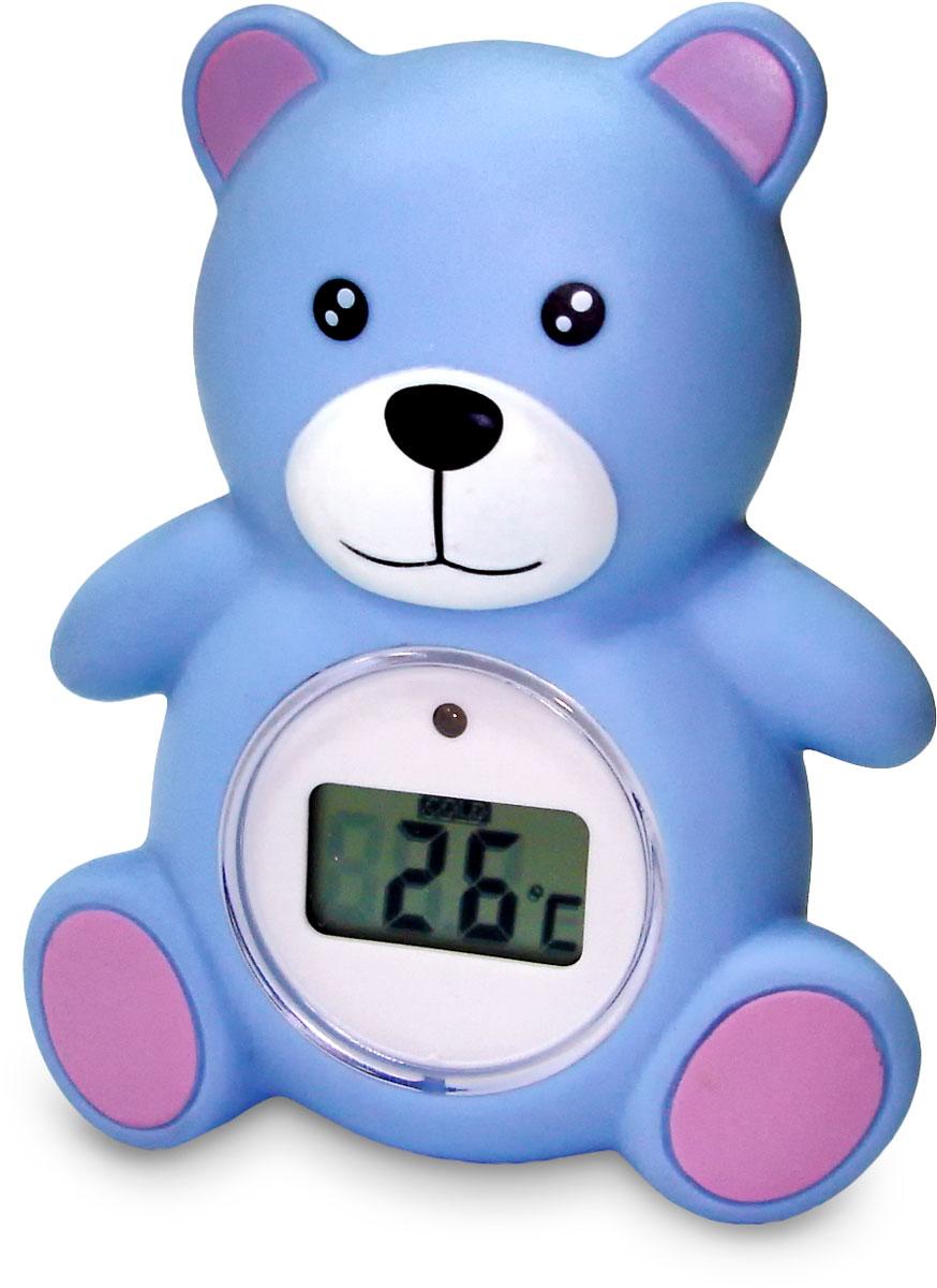 """Универсальный термометр-игрушка Balio RT-18 используется для измерения температуры воды при купании ребенка, а также позволяет определить температуру воздуха в помещении. Встроенный индикатор-сигнал начинает мигать красным цветом, если температура воды достигает 39°С и выше, также на дисплее отображается надпись """"COLD"""", означающая, что вода слишком холодная (до 32°С и ниже)."""