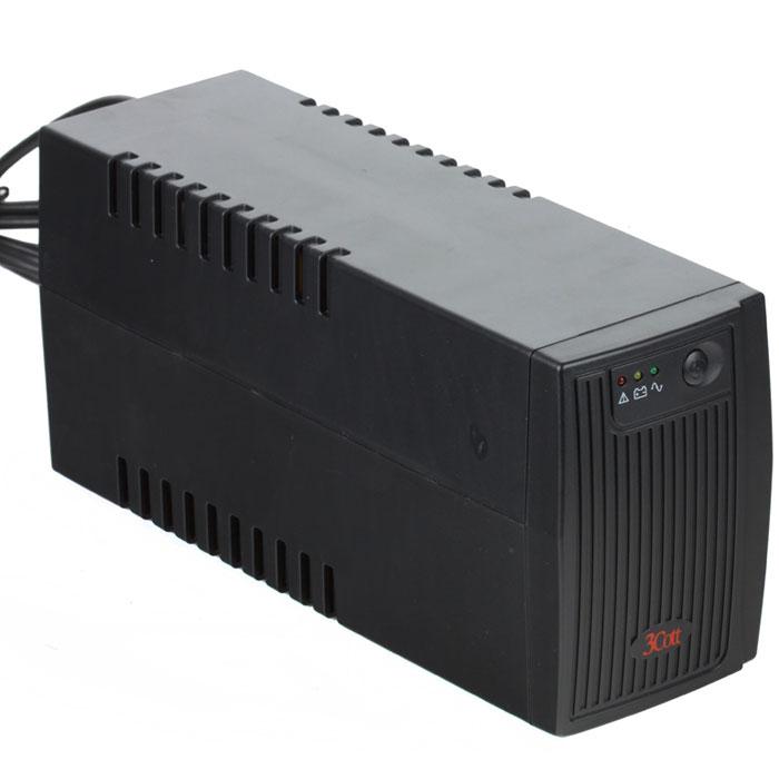 3Cott Micropower 650VA/360W линейно-интерактивный ИБП3Cott-650VA-4IEC3Cott Micropower 650VA/360W - линейно-интерактивный ИБП с плавким типом предохранителя обеспечит качественную защиту вашего устройства. Выходной мощности в 650 ВА вполне хватит для игровых и офисных ПК.В данной модели присутствуют звуковая сигнализация, предупреждающая звуковым сигналом о любых изменениях, связанных с работой ИБП (переход в автономный режим работы, низкий заряд батареи и т.п.), и светодиодные индикаторы, каждый из которых отвечает за тот или иной режим работы. Таким образом, пользователь всегда находится в курсе в каком режиме находится источник бесперебойного питания в данный момент.Холодный старт - это особый режим, при котором источник бесперебойного питания, в случае отсутствия напряжения в сети, переходит на режим работы от батареи.Еще одним весомым достоинством 3Cott Micropower 650VA/360W является возможность самостоятельной замены батареи без необходимости использования специальных инструментов.Время перехода на батареи: 2-4 мсТип батареи: 1 x 12В 7АчВремя работы в резервном режиме при нагрузке 50%: 14 минутИндикаторы: работа от сети/от батарей/батареи разряжены/неисправностьУровень шума: 40 дБВходная вилка: SchukoВыходные разъёмы: IEC 320 x 4 (c батарейной поддержкой)