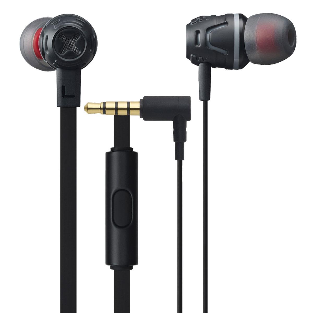 Cresyn C450S, Black наушники с микрофономC450S BlackВставные наушники с микрофоном Cresyn C450S совершенны в своем исполнении. Яркий дизайн и множество цветовых вариантов рассчитаны на взыскательный вкус стремительных и энергичных. Крупные 10-миллиметровые динамики с неодимовыми магнитами выдают детализированный звук, насыщенный глубокими басами. Открытое акустическое оформление способствует предельно естественному звучанию, апосадка в ушном канале с подобранными по размеру насадками изолирует шумы извне. Плоский кабель не спутывается и отличается повышенной прочностью. Двухцветные насадки разных размеров не только позволяют получить максимальный комфорт при ношении, но и радуют сочетанием цветов.Пульт, встроенный в кабель стерео-гарнитуры Cresyn C450S, располагает кнопкой для ответа на входящие вызовы. Высокочувствительный ненаправленный микрофон с максимальной четкостью захватывает ваш голос при общении, отсекая лишние шумы. Все перечисленные функции позволяют слушать музыку и отвечать на звонки, не доставая смартфон из кармана.
