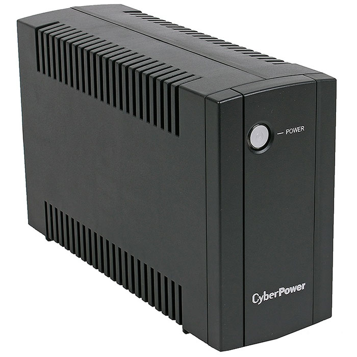 CyberPower UT650EI 650VA/360W линейно-интерактивный ИБПUT650EICyberPower UT650EI 650VA/360W - источник бесперебойного питания, который обеспечивает надежным резервным электропитанием и защищает ПК и другое электрооборудование от скачков, всплесков, понижений напряжения и других инцидентов в сети электропитания.В производстве ИБП CyberPower используется наиболее высококачественная несгораемая пластмасса, выдающиеся возможности которой минимизируют повреждения ценных активов в случае инцидентов с огнем. Инновационная технология управления зарядом аккумуляторных батарей CyberPower значительно повышает эффективность заряда и срок службы аккумулятора. Настраиваемые звуковые оповещения позволяют пользователям отключать звуковые сигналы для комфортной работы. Линейно-интерактивный ИБП совместим с генераторами, что обеспечивает более обширное применение во время перебоев в электропитании. Встроенный автоматический регулятор напряжения (AVR) повышая или понижая напряжение, не прибегая к работе батареи, стабилизирует и поддерживает безопасное электропитание для подключенного оборудования.Время перехода на батареи: 4 мсЗащита телефонной линии/локальной сетиВремя работы при полной нагрузке: 0,5 минВремя работы в резервном режиме при нагрузке 50%: 5 минутИнтерфейсы: RJ-11/45Автоматический предохранительСуммарное напряжение батарей: 12 В / 5 АчВремя зарядки аккумуляторной батареи: 8 часовВыходные разъёмы: 4 x IEC (компьютерные розетки)