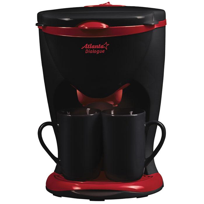 Atlanta ATH-531, Black кофеваркаATH-531_blackС помощью капельной кофеварки Atlanta ATH-531 вы сможете приготовить вкусный натуральный кофе. Кофеварка рассчитана на приготовление двух чашек кофе. Две керамические чашки входят в комплект.