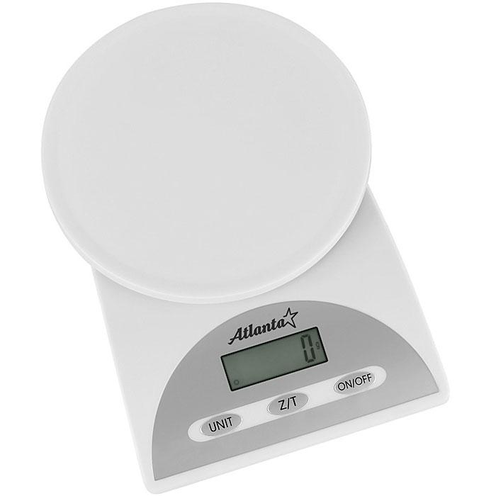 Atlanta ATH-814, White весы кухонные триммер atlanta ath 6941