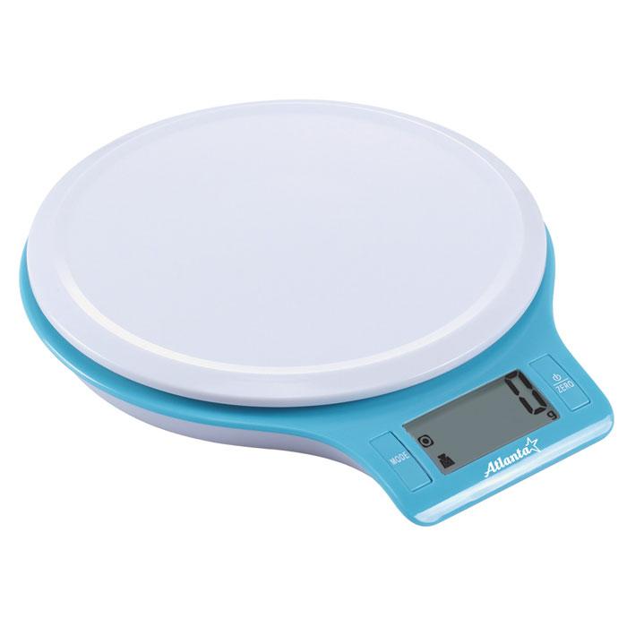 Atlanta ATH-6206, Blue весы кухонныеATH-6206_blueКухонные электронные весы Atlanta ATH-6206 - незаменимые помощники современной хозяйки. Они помогут точно взвесить любые продукты и ингредиенты. Кроме того, позволят людям, соблюдающим диету, контролировать количество съедаемой пищи и размеры порций. Предназначены для взвешивания продуктов с точностью измерения до 1 грамма.Функция обнуления весаФункция сложный рецептЗамеряет объем молока и водыЯркий дизайн