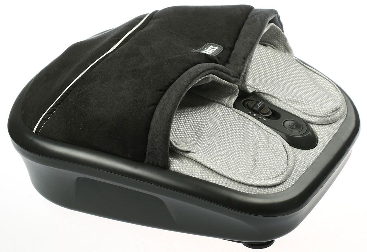 HoMedics FMS-275H-EU массажер для ногFMS-275H-EUШиацу массаж (Shiatsu) — это одна из разновидностей восточного массажа. Он является методом механического и рефлекторного воздействия на ткани и органы.Роликовый шиацу массаж ног при помощи прибора HoMedics FMS-275H-EU поможет вам расслабится после тяжелого рабочего дня или физических нагрузок, например, после занятий спортом. Он снимает усталость и улучшает кровообращение.Массажер HoMedics FMS-275H-EU прост в применении. К тому же он имеет компактные размеры. Поэтому он не займет много места в вашей квартире. Массажер оборудован съемным чехлом, благодаря чему обеспечивается гигиеничность - его удобно содержать в чистоте.Роликовый, воздушный массажИмитация ручного массажаГелевые роликиФункция прогревания3 режима роликового массажаТайский компрессионный массажРегулируемая интенсивность воздушного массажаПоверхность их мягкого велюраВстроенная панель управленияРегулировка пальцами ноги