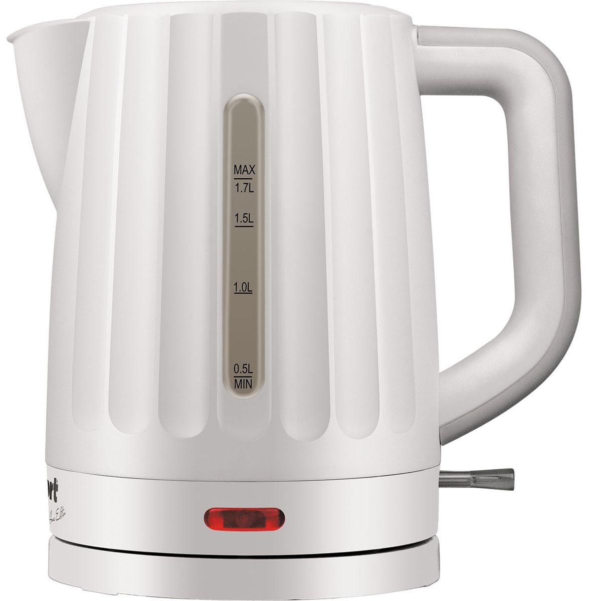 Bort BWK-2017P электрический чайник91276919Стильный чайник Bort BWK-2017P из высококачественной пластмассы позволит быстро вскипятить нужное количество воды. Широко открывающаяся крышка, легкоснимаемый мелкопористый фильтр и плоский нагревательный элемент - всё создано для комфортной эксплуатации и чистки чайника. Окошки контроля уровня воды, расположенные с левой и правой стороны чайника, удобны для левшей и правшей. Эргономичная ручка чайника настолько удобна, что вы легко и комфортно контролируете весь процесс.Длина кабеля: 0,5 м