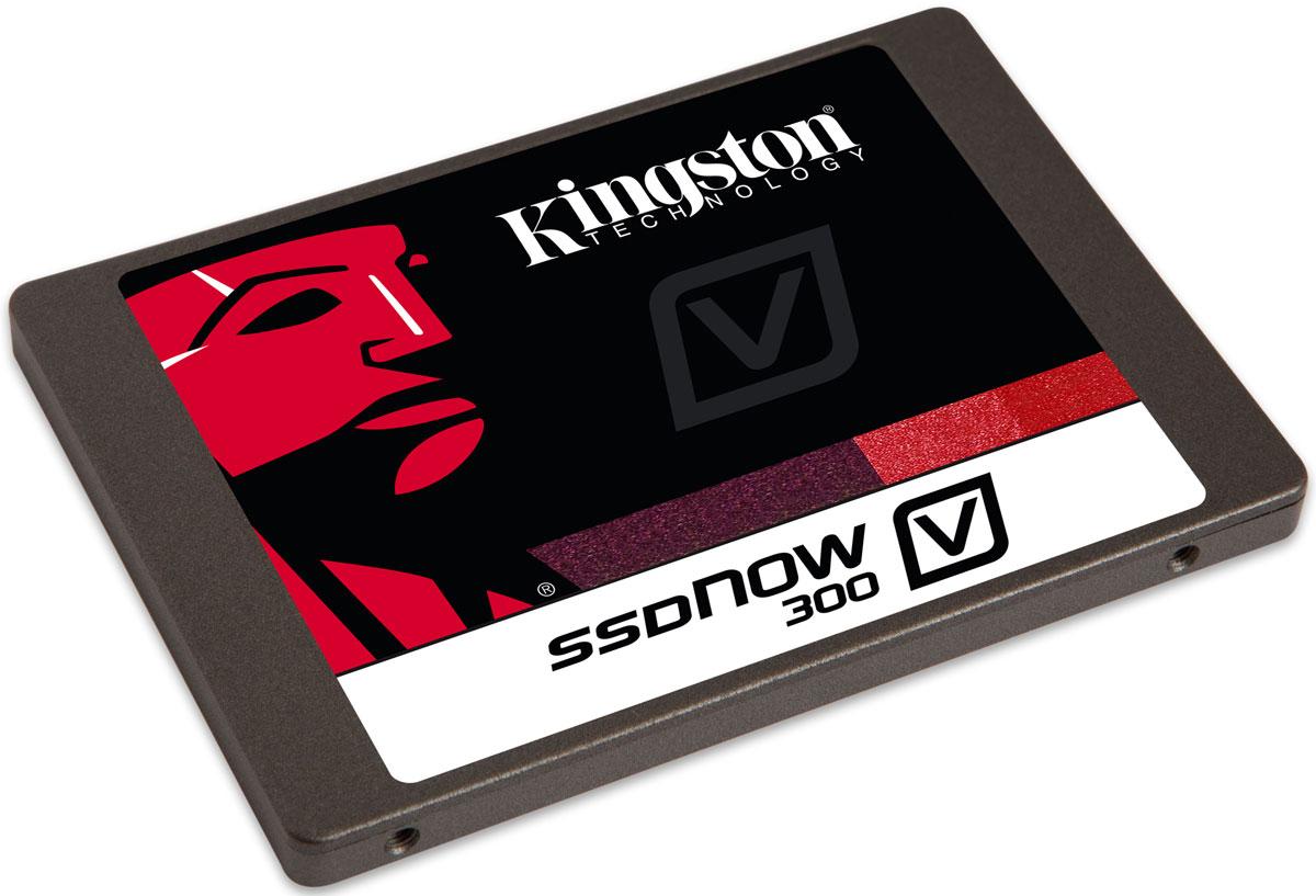 Kingston V300 120 GB SSD-накопительSV300S3N7A/120GПовысьте скорость работы Вашего компьютера и сэкономьте средства, заменив старый жесткий диск на твердотельный накопитель Kingston SSDNow V300. Это самое экономически эффективное решение для повышения производительности системы и более простой способ по сравнению с переносом всех данных на новую систему.SSDNow V300 имеет контроллер LSI SandForce, оптимизированный для флеш-памяти нового поколения, что обеспечивает высочайшее качество и надежность. Накопители состоят из твердотельных компонентов и не содержат движущихся деталей, поэтому они имеют повышенную ударопрочность и выдерживают падения и вибрации.Дополнительно:• Вибрация при работе: 2,17 G (пиковая) при частоте 7-800 Гц• Вибрация при простое: 20 G (пиковая) при частоте 10-2000 Гц• Ожидаемый срок службы: 1 млн часов (средняя наработка на отказ)• Максимальная скорость чтения/записи случайных блоков размером 4 КБ: до 85 000 / до 55 000 IOPS• Рейтинг PCMARK Vantage HDD Suite: 49 000• Энергопотребление: 0.64 Вт при простое, 1.42 Вт при чтении, 2.05 Вт при записи