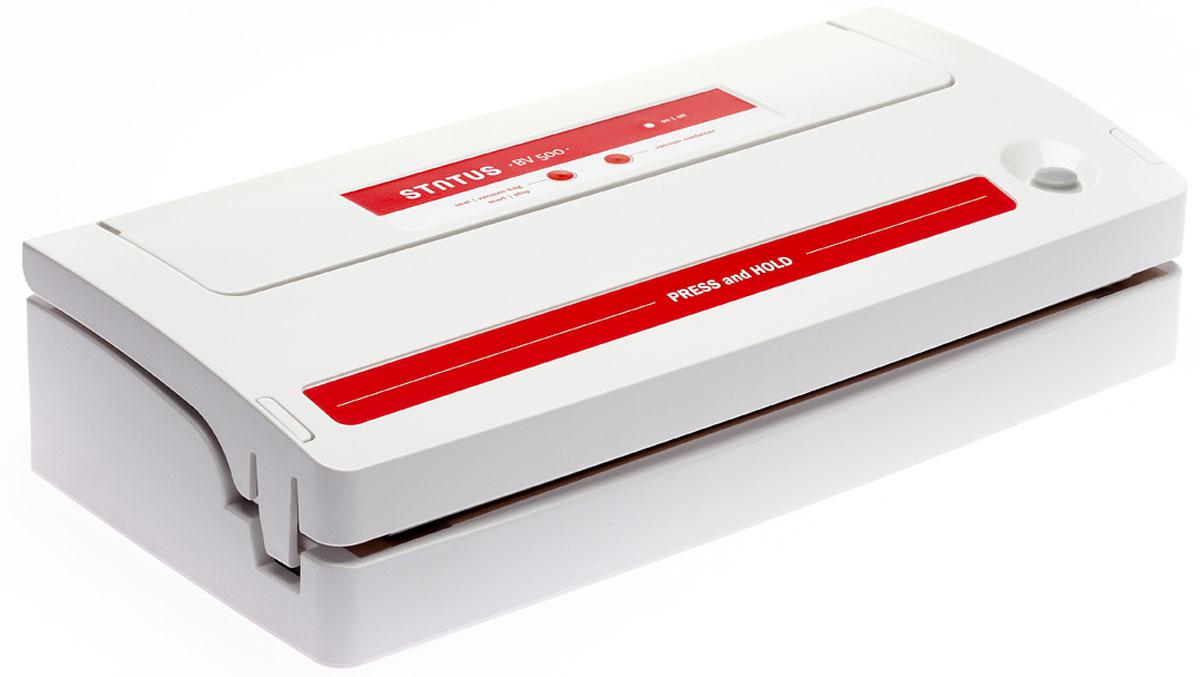 STATUS BV 500 вакуумный упаковщикBV 500STATUS BV 500 -вакуумный упаковщик для надежного хранения пищевых продуктов (как мяса и рыбы, так и овощей и фруктов) без потери их питательных свойств. Автоматическое и ручное управление вакуумированием и сваркой пакетов обеспечивает оптимальную свежесть упакованных продуктов. С помощью специальной насадки STATUS BV 500 может откачивать воздух из контейнеров. Оснащен встроенным отсеком для рулонной пленки.