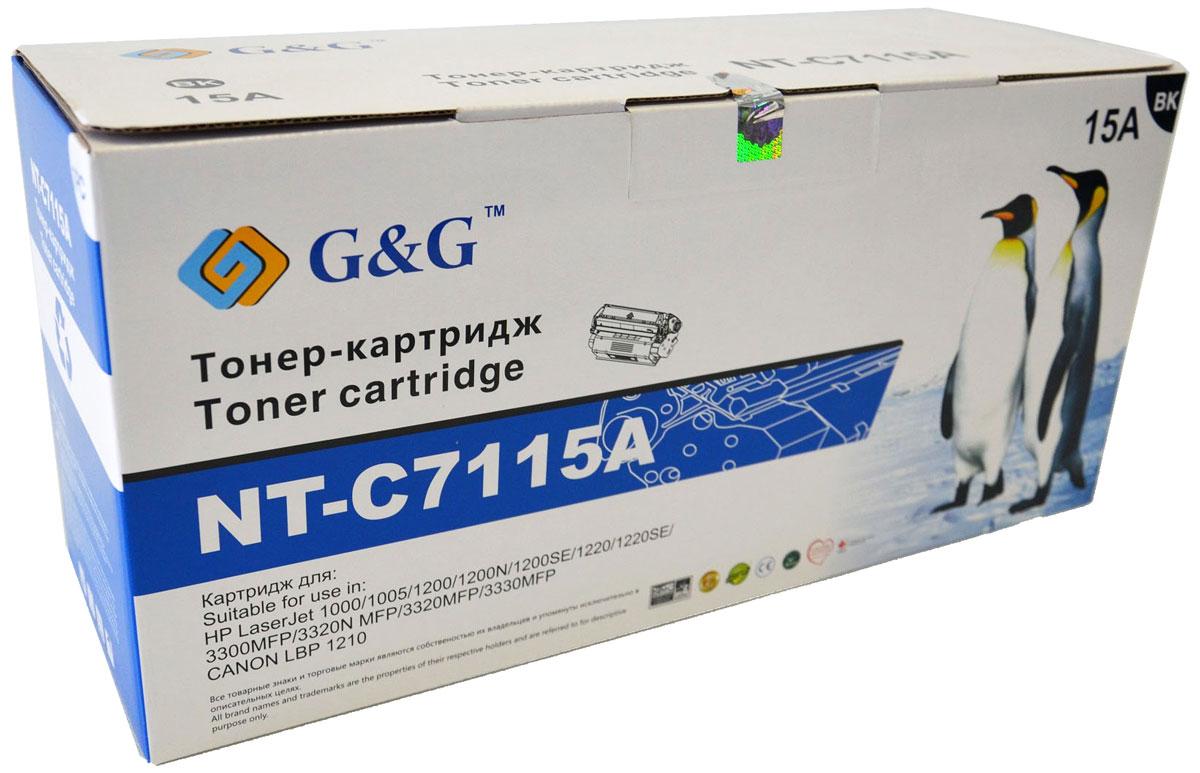 G&G NT-C7115A тонер-картридж для HP LaserJet 1000/1005/1200/3300/3320/3330/Canon LBP-1210NT-C7115AКартридж G&G NT-C7115A для лазерных принтеров HP LaserJet 1000/1005/1200/3300/3320/3330, Canon LBP-1210.Расходные материалы G&G для лазерной печати максимизируют характеристики принтера. Обеспечивают повышенную чёткость чёрного текста и плавность переходов оттенков серого цвета и полутонов, позволяют отображать мельчайшие детали изображения. Обеспечивают надежное качество печати.