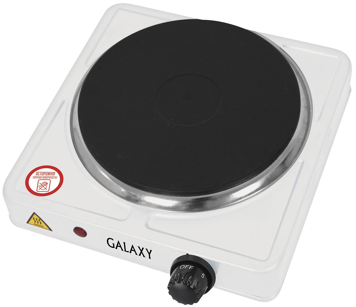 Galaxy GL 3001 плитка электрическая4630003364104Компактная электрическая плитка Galaxy GL 3001 просто незаменима, когда нет возможности установить полноценную стационарную плиту, например, в общежитии, на даче или любом другом помещении.Данная модель лёгкая и компактная, для нее всегда найдётся место. Она быстро нагревается и стабильно поддерживает заданную температуру, экономно расходует электроэнергию.Нагревательный элемент в плитке закрыт конфоркой-диском, в результате чего он не имеет прямого контакта с посудой или случайно попавшей пищей. Это значительно продлевает срок службы плитки. Помимо этого, диск легче очищается от загрязнений, в отличие от спирали, имеющей сложную форму.Диаметр нагревательного элемента: 185 ммДлина шнура питания: 0,8 мМеталлический корпус, покрытый молотковой эмальюПлавная регулировка температуры нагрева.