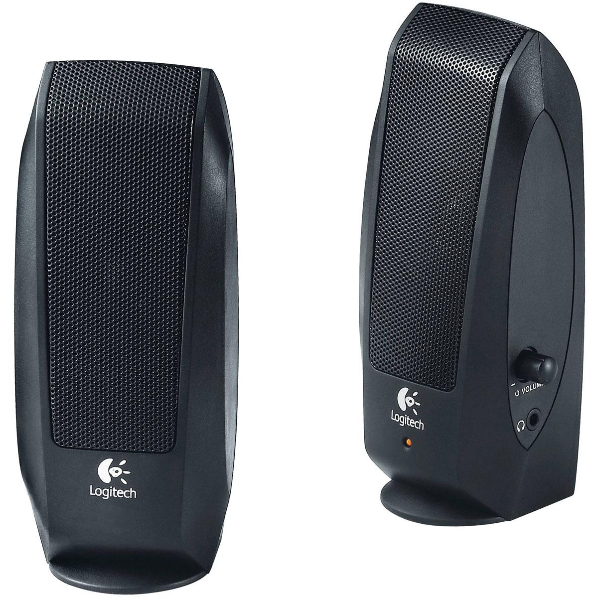 Logitech S120 Speaker System 2.0, Black колонки980-000010Две мультимедийные стереоколонки Logitech S120 дают чистый стереозвук с максимальной мощностью 2,3 Вт. Простое и удобное управление благодаря совмещению регулятора громкости и выключателя питания. Легкодоступный разъем для наушников на колонках S120 позволит вам насладиться музыкой в уединении.Длина шнура питания 1,5 мКабель между колонками: 1,2 м