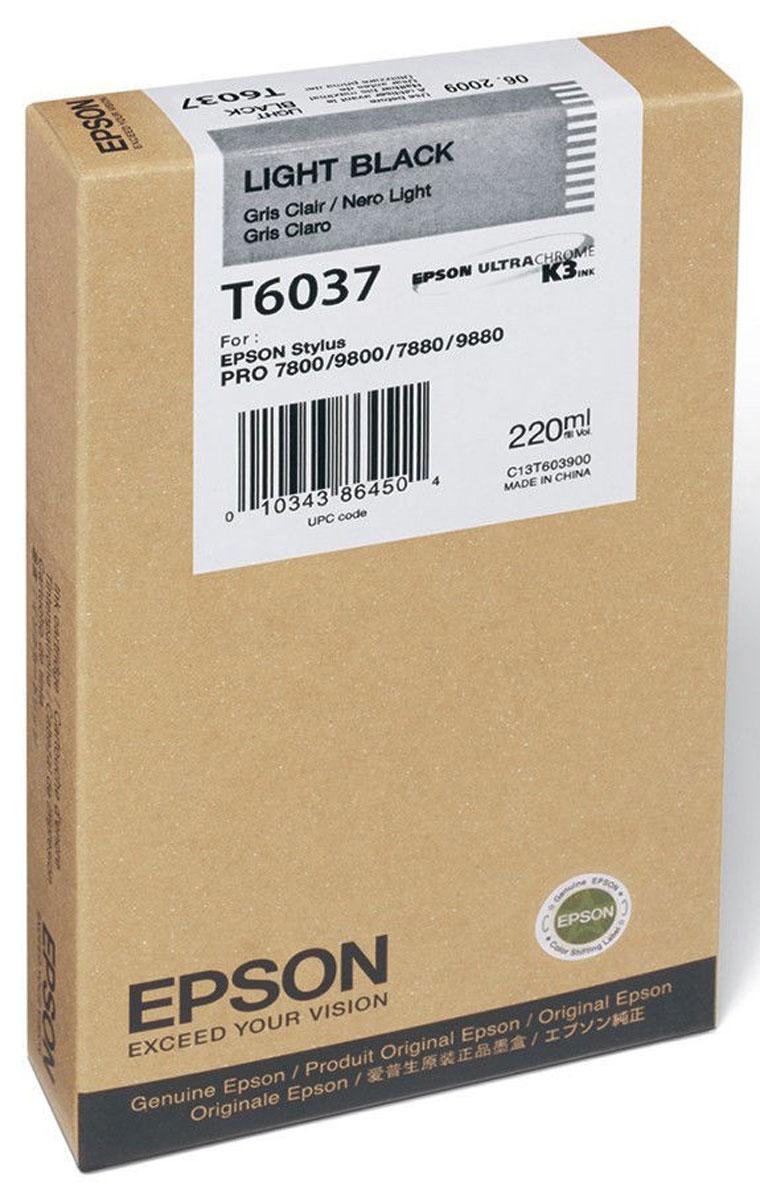 Epson T6037 (C13T603700), Light Black картридж для Stylus PRO 7800/7880/9800/9880C13T603700Картридж Epson T6037 для струйных принтеров Epson Stylus PRO 7800/7880/9800/9880.Расходные материалы Epson для печати максимизируют характеристики принтера. Обеспечивают повышенную четкость изображения и плавность переходов оттенков и полутонов, позволяют отображать мельчайшие детали изображения. Обеспечивают надежное качество печати.