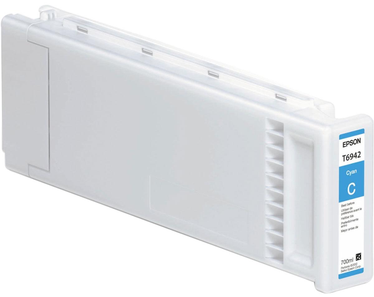 Epson T6942 (C13T694200), Cyan картридж для T3000/5000/7000C13T694200Картридж Epson T6942 для струйных принтеров Epson SureColor SC-T3000/5000/7000.Расходные материалы Epson для печати максимизируют характеристики принтера. Обеспечивают повышенную четкость изображения и плавность переходов оттенков и полутонов, позволяют отображать мельчайшие детали изображения. Обеспечивают надежное качество печати.