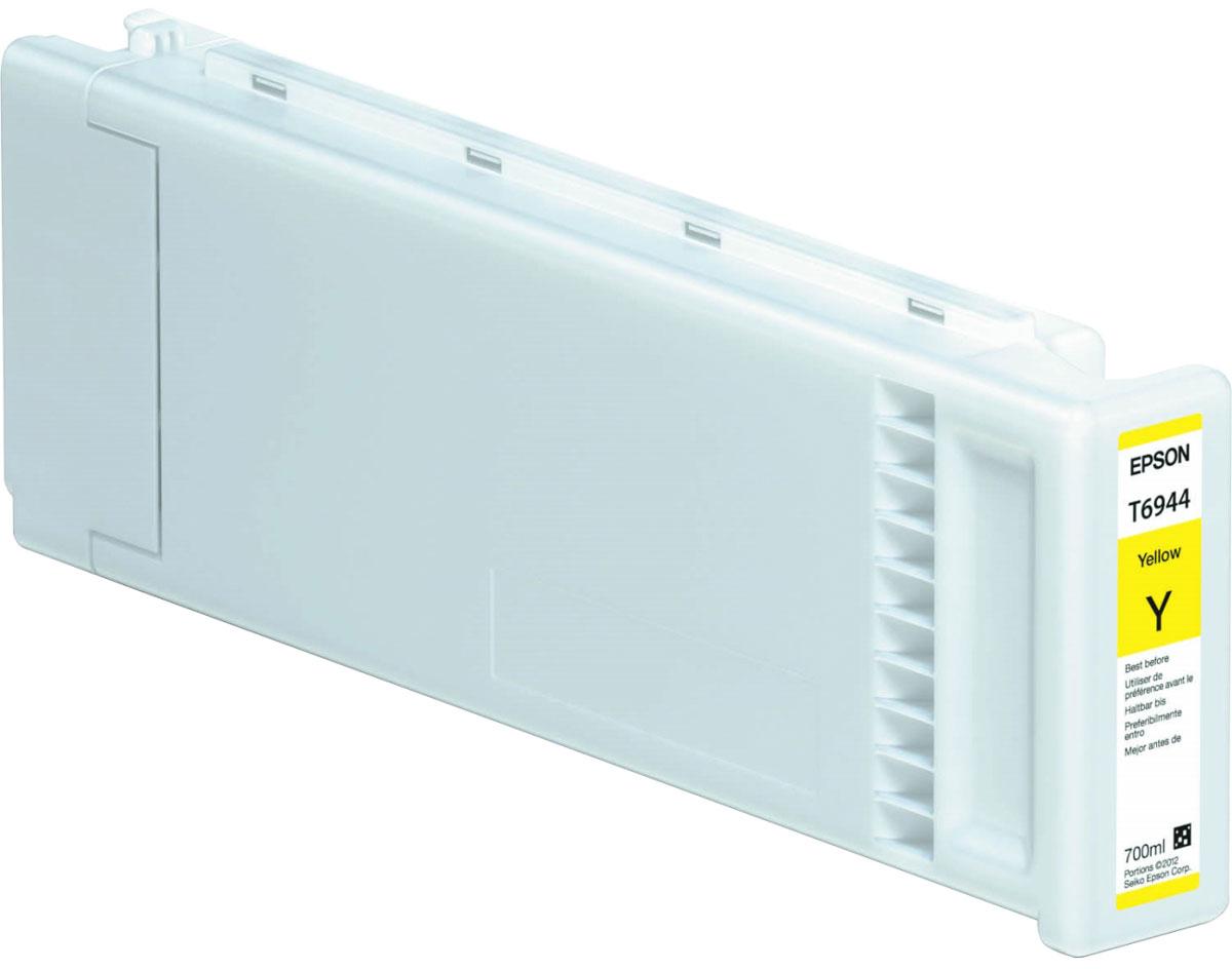 Epson T6944 (C13T694400), Yellow картридж для T3000/5000/7000C13T694400Картридж Epson T6944 для струйных принтеров Epson SureColor SC-T3000/5000/7000.Расходные материалы Epson для печати максимизируют характеристики принтера. Обеспечивают повышенную четкость изображения и плавность переходов оттенков и полутонов, позволяют отображать мельчайшие детали изображения. Обеспечивают надежное качество печати.