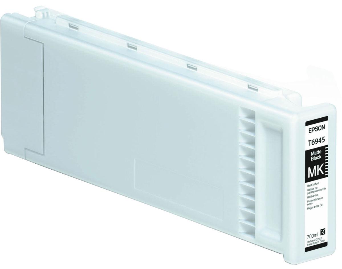 Epson T6945 (C13T694500), Matte Black картридж для T3000/5000/7000C13T694500Картридж Epson T6945 для струйных принтеров Epson SureColor SC-T3000/5000/7000.Расходные материалы Epson для печати максимизируют характеристики принтера. Обеспечивают повышенную четкость изображения и плавность переходов оттенков и полутонов, позволяют отображать мельчайшие детали изображения. Обеспечивают надежное качество печати.