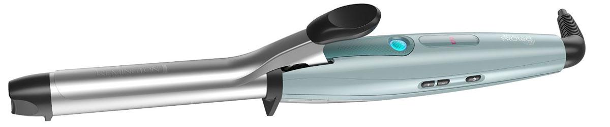 Remington CI8725 щипцы для завивки волосCI8725Познакомьтесь с новыми щипцами PROtect от Remington, которые совершают настоящий прорыв в стайлинге и гарантируют красивые, гладкие и стойкие локоны с меньшим до 62% повреждением волос.Щипцы PROtect обеспечивают профессиональный стайлинг с защитой от теплового повреждения волос, благодаря инновационной технологии HydraCare.Пять температурных режимов до 220°C, встроенный цифровой дисплей. Плюс, усовершенствованное керамическое покрытие основания способствует бережному стайлингу без запутывания и вытягивания волос. Система запирания надежно удерживает локон для профессионального качества укладки.Основание 22 мм выполнено из усовершенствованной керамики, пропитанной миксом из супер-питательных микро-кондиционеров, с Кератином, маслом Арганы и Макадамии для придания волосам блеска и сохранения здоровья. С щипцами PROtect вы сможете создавать потрясающие кудри на целый день.Технология HydraCare обеспечивает идеальный баланс между увлажнением волос и температурой во время стайлинга. Сочетая холодный пар с оптимальной температурой нагрева 170°C, вы можете создавать потрясающий стиль с меньшим повреждением волос, благодаря низкой температуре.