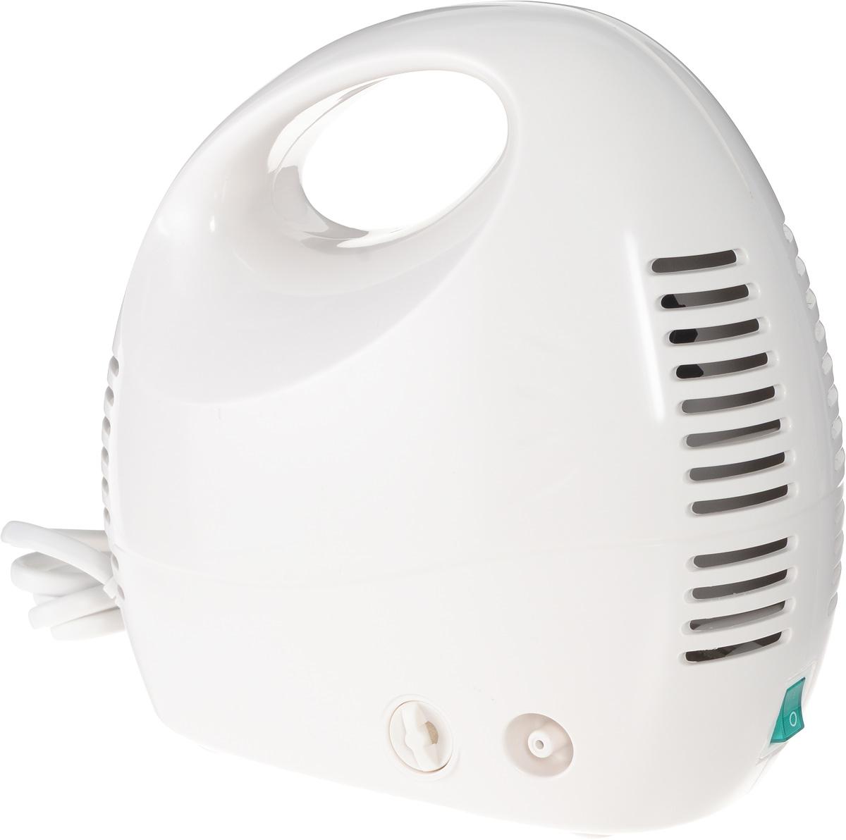 Алмаз MCN-600МА Effect компрессорный ингаляторMCN-600МА (Effect)Ингалятор Алмаз MCN-600МА Effect является эффективным медицинским прибором в связи с реализацией классического принципа устройства компрессора.Ингалятор состоит из пластмассового корпуса и распылительной камеры, соединенной с ним гибким шлангом. В корпусе установлен поршневой компрессор, который создает избыточное давление воздуха, подаваемого по гибкому шлангу в распылительную камеру. Конструктивно камера - это пластмассовая емкость для лекарства с устройством для его распыления потоком воздуха.Данная модель предназначена для профилактики и лечения различных заболеваний дыхательных путей с помощью ингаляций. Прибор создает мелкодисперсный аэрозоль из водорастворимых лекарственных препаратов для проведения ингаляций. Частицы аэрозоля имеют размер в среднем, 3 мкм, благодаря чему они достигают различных отделов дыхательных путей. Образование аэрозоля в ингаляторе происходит при прохождении потока воздуха под давлением, создаваемым компрессором, через камеру с лекарственным раствором.Корпус ингалятора изготовлен из гигиеничной пластмассы высшего сорта, что обусловливает безвредность при использовании, современный эстетичный и эргономичный дизайн. При изготовлении электронного блока использованы современные качественные материалы. Благодаря этому достигнута высокая надежность прибора, его безопасность, удобство применения. На распылительной камере имеются разметочные метки, которые обозначают примерный объем лекарственного препарата в камере.Интенсивность распыления: 0,3 мл/ минРазмер частиц аэрозоля: не более 4 мкмОбъем емкости для лекарств: 6 млУровень шума: 55 дБДиапазон давления компрессора: 30-36 Psi